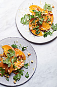 Butternut squash salad with parsley and cashew nuts