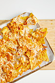Oven baked nachos with cheese