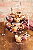 Blueberry-Muffins mit Dinkelmehl
