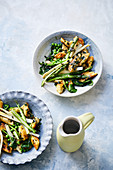 Ricotta gnocchi with spring vegetables and wild garlic butter