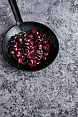 Roasted Cherries in Black Forged Pan
