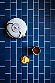 White Tea Pot with Tea