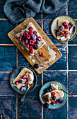Espresso Ice Cream Loaf Cake with Frozen Berries Sliced