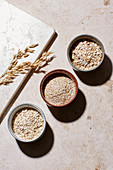 Oat dishes – coarse, fine and wholegrain oats