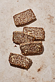 Oat balance bread with flax seeds, chia and walnuts