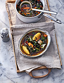 Mediterranean chard stew with olives and capers