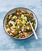 Turkish bean salad with sumach and egg