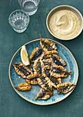 Fried anchovies with lemon aioli
