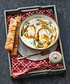 Cilbir – Turkish spiced yoghurt