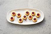 Jam thumbprint biscuits (sugar-free)