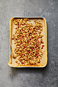 Sweet granola with goji berries and apricots