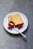 Vegan 'Shepherds pie' with lentils, beetroot and cashew nut 'Parmesan' cheese