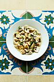Gnocchi with mixed mushrooms