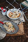 Spaghetti mit Knoblauchöl und Chili
