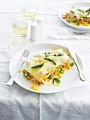 Chicken and Pumpkin Lasagne Stacks