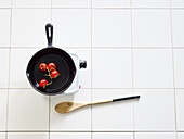 A symbolic image of quick pan-fried dishes