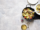 One-pan tortelloni with mushrooms