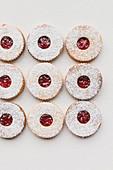 Strawberry Jam Linzer Biscuits