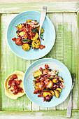 Warmer Kartoffelsalat mit Salbei und Bacon