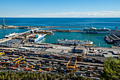 Port of Barcelona, Spain, aerial view
