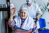 Helyette, 102 years old in a nursing home