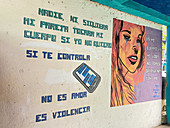 Awareness display on violence against women