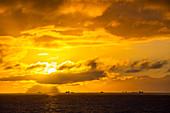 Sunset off the Danco coast, Antarctic Peninsular