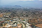 Santiago, Chile, aerial photograph