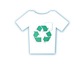 T-shirt with recycling symbol, illustration