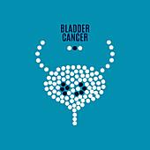Bladder cancer, conceptual illustration