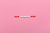 SOS Morse code with drugs and pills