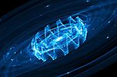 Gravitational waves, conceptual illustration