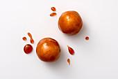 Apple and mascarpone truffles with caramel
