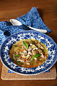 Chicken soup with white beans