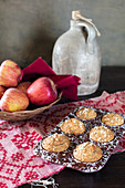 Applesauce Oat Muffins with whole wheat flour