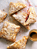 Cherry and rhubarb hand pie s