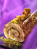 Filled bouche with pistachios