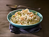 Risotto with crab, zucchini and parmesan