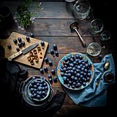 Damson fruit ready to make into jam