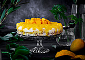Mango cheesecake with Alphonso mangoes