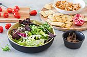 Zutaten für Cäsarsalat