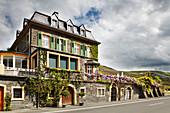 Building, Ernie Loosen vineyard, Mosel, Germany
