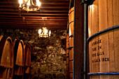 Holzfass, Heitz Cellars, Napa Valley, Kalifornien, USA