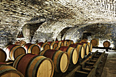 Barrique cellar, Domaine Clos Lambrays, Burgundy, France