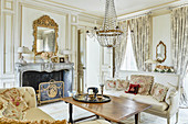A fireplace room, Domaine Clos Lambrays, Burgundy, France