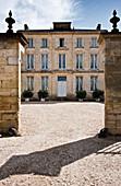 Interior courtyard at Chateau Figeac, Saint Emilion, Bordeaux, France
