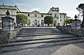 Main building, Chateau La Nerthe, Chateauneuf-du-Pape, Rhone, France