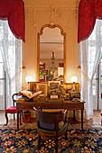 A bureau in a salon, Chateau Lafite Rothschild, Pauillac, Bordeaux, France