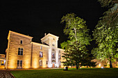 Main building by night, Château Lafaurie Peyraguey, Sauternes, Bommes, France