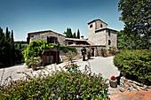 A stone house, Nittardi vineyard, Maremma, Tuscany, Italy